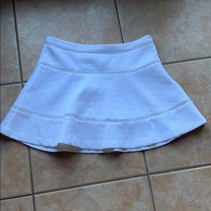 3/$30 Banana Republic White Flared Eyelet Skirt 10